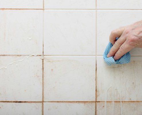 limpiar azulejos del baño
